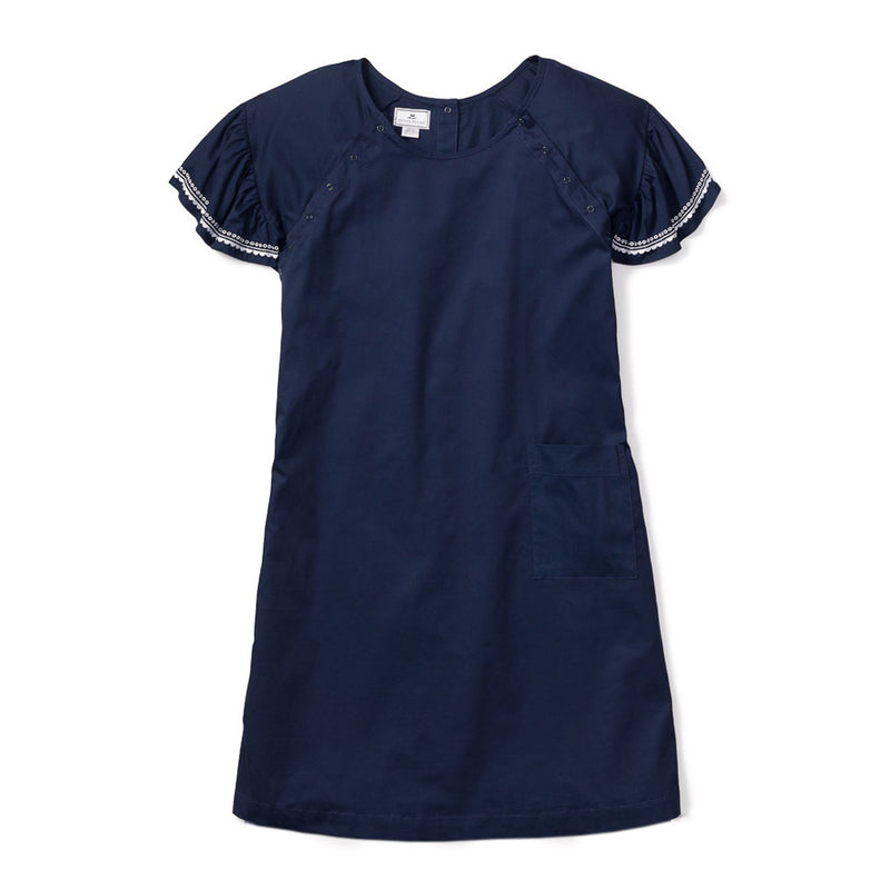 Women's Navy Twill Hospital Gown