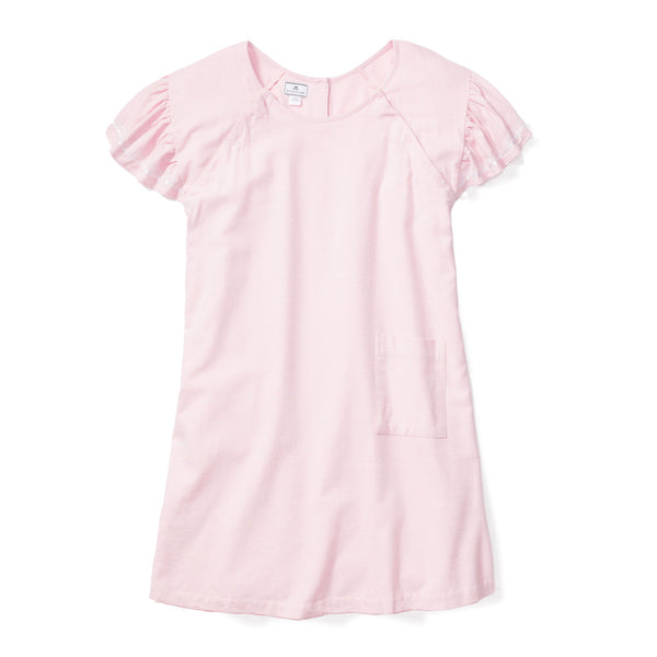 Women's Pink Flannel Hospital Gown