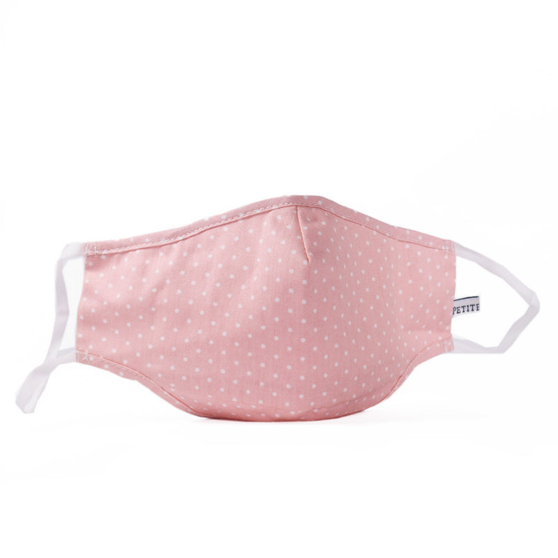 Pink Polka Dot Face Mask