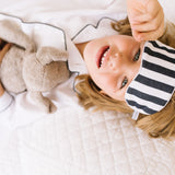Children's Navy Modern Striped Traditional Eye Mask