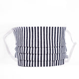 Adult Navy Bengal Striped Face Mask