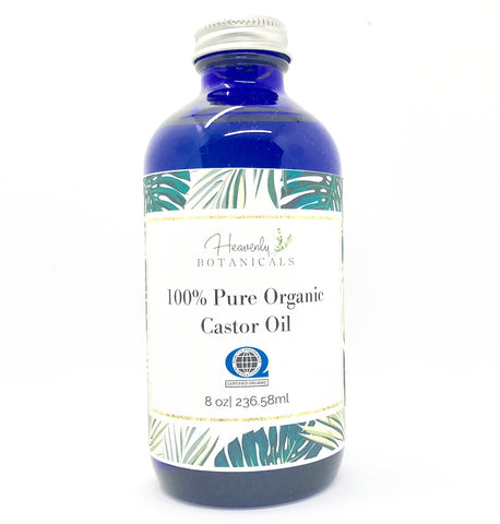 Certified Organic Castor Oil, 100% Pure Castor oil, Hair Growth, Eyelash Growth, Organic skin care, Organic face oil, Body Oil, Keratosis pilaris