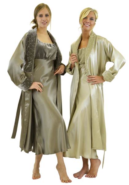 Pure Mulberry Silk Charmeuse Robe And Gown Empress Home