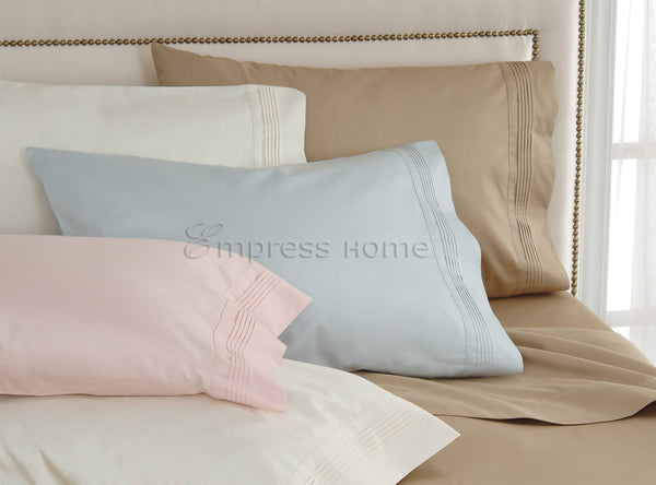400 Thread Count Cotton - Sateen Woven with Pleated Hems