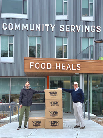 CEO Mark McGarry and CEO David Waters of Community Servings in Jamaica Plain