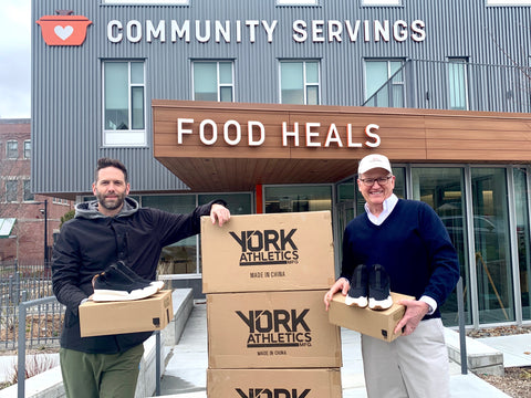 YORK Athletics x Community Servings #fightfromhome initiative