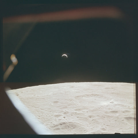 the Moon as seen from Apollo Space Mission