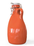Orange Stoneware Growler ~ 64oz.