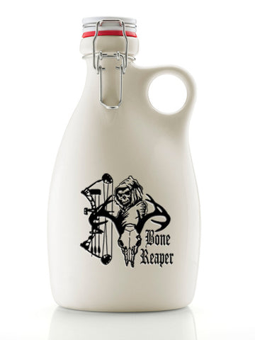 The Bone Reaper Growler ~ Gloss White 64oz.