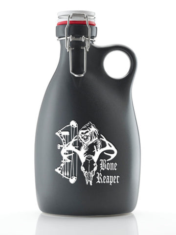 The Bone Reaper Growler ~ Matte Black 64oz.