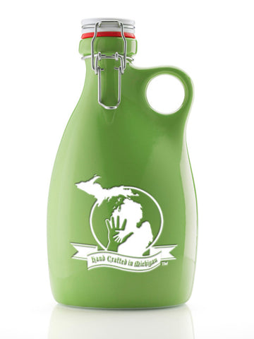 Hand Crafted in Michigan ~ 64oz. Green Growler