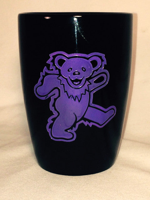 Purple Bear - Black Coffee Mug 14oz.