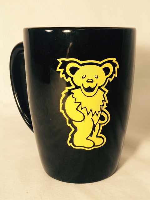 Yellow Bear - Black Coffee Mug 14oz.