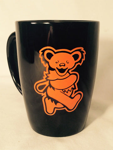 Orange Bear - Black Coffee Mug 14oz.