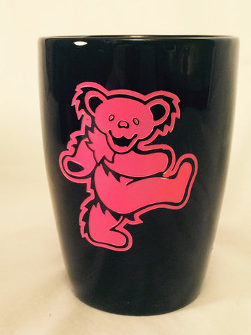 Pink Bear - Black Coffee Mug 14oz.