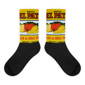El Pato Hot Sauce Salsa Yellow Socks