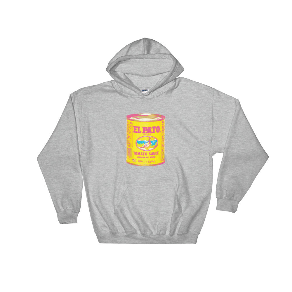 El Pato Hot Sauce Alternative Black Hooded Sweatshirt