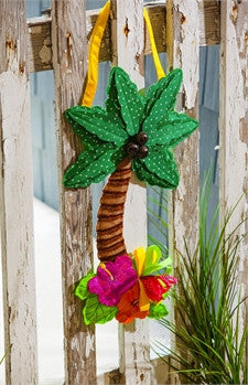 Palm Tree Burlap Door Decor