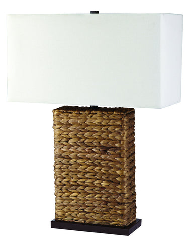 Split P Sea Grass Lamp with Shade