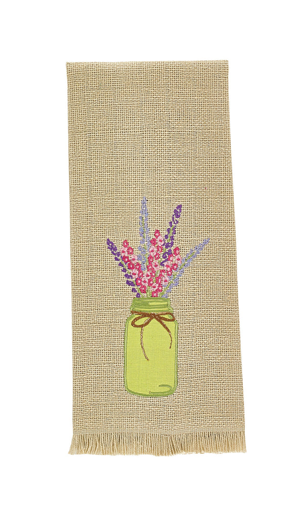 Park Designs Flower Mason Jar Dishtowel