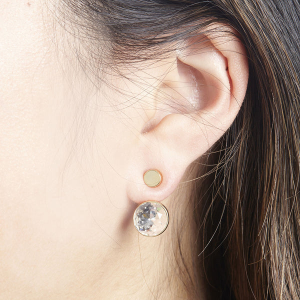 FOXY ORB EAR JACKET IN SILVER/BLACK
