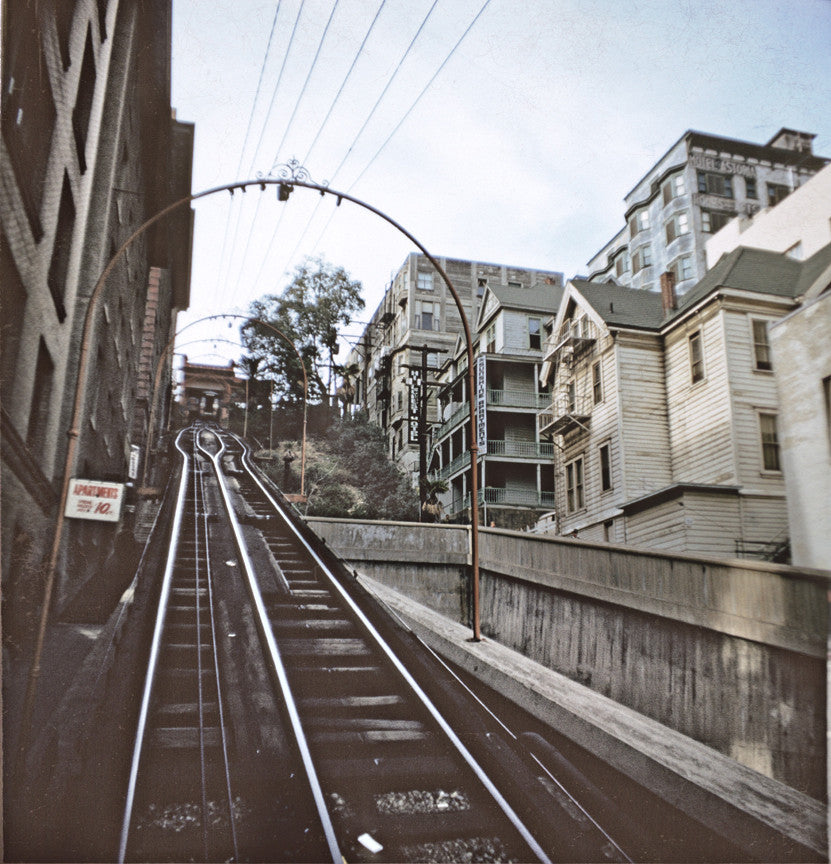 Up the Angels Flight tracks