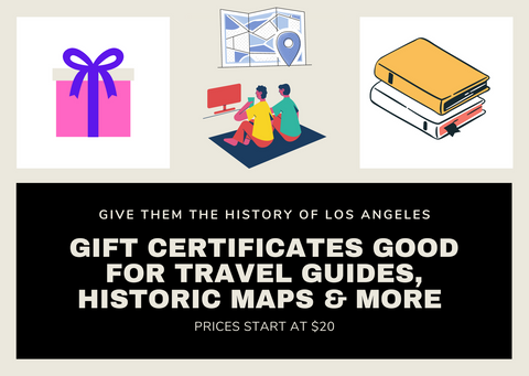 Esotouric Gift Certificate - Travel Guides, Historic Maps ($20 and up)