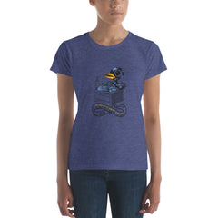 The Bukbird (Charles Bukowski tribute by Tony Millionaire) Women's short sleeve t-shirt