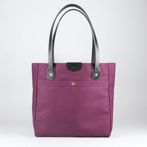 Wellington Tote (Burgundy and Black)