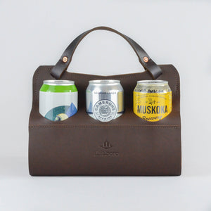 Big Sixer Beer Caddy (Chocolate Brown)