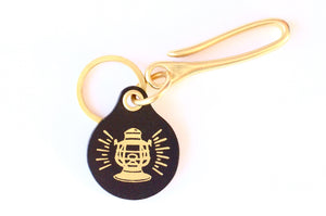 Lantern Key Fob with Brass Loop Hook