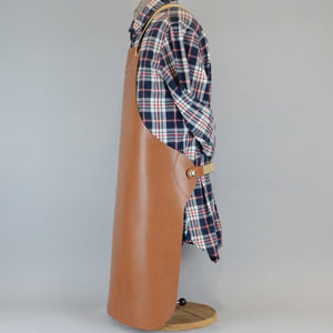 Heavy Duty Pocketless Leather Apron (TAN)