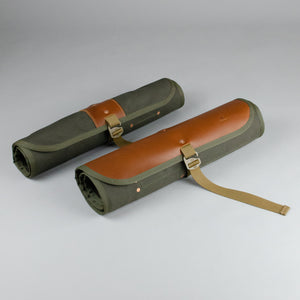 Double Barrel Tool Roll (Tan & Olive)