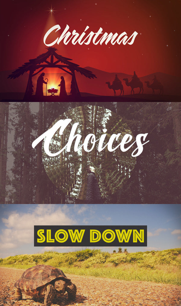 New Release Bundle: Christmas, Slow Down & Choices