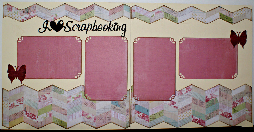 #122 I Heart Scrapbooking Layout Kit