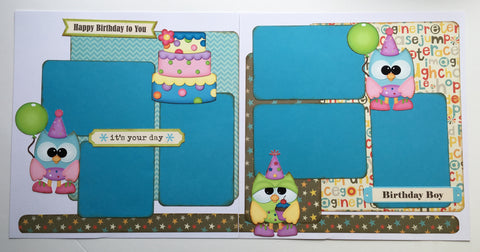 #80 Happy Birthday to You - Boy Layout Kit