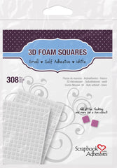 Scrapbook Adhesives 3D Foam Squares - White, Small