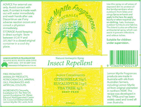 natural insect repellent draft label