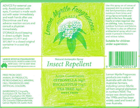 green flouro insect repellent label