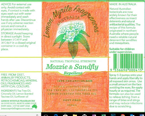 Mozzie and Sandfly Repellent Label