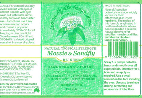 Draft Mozzie and Sandfly Repellent Label