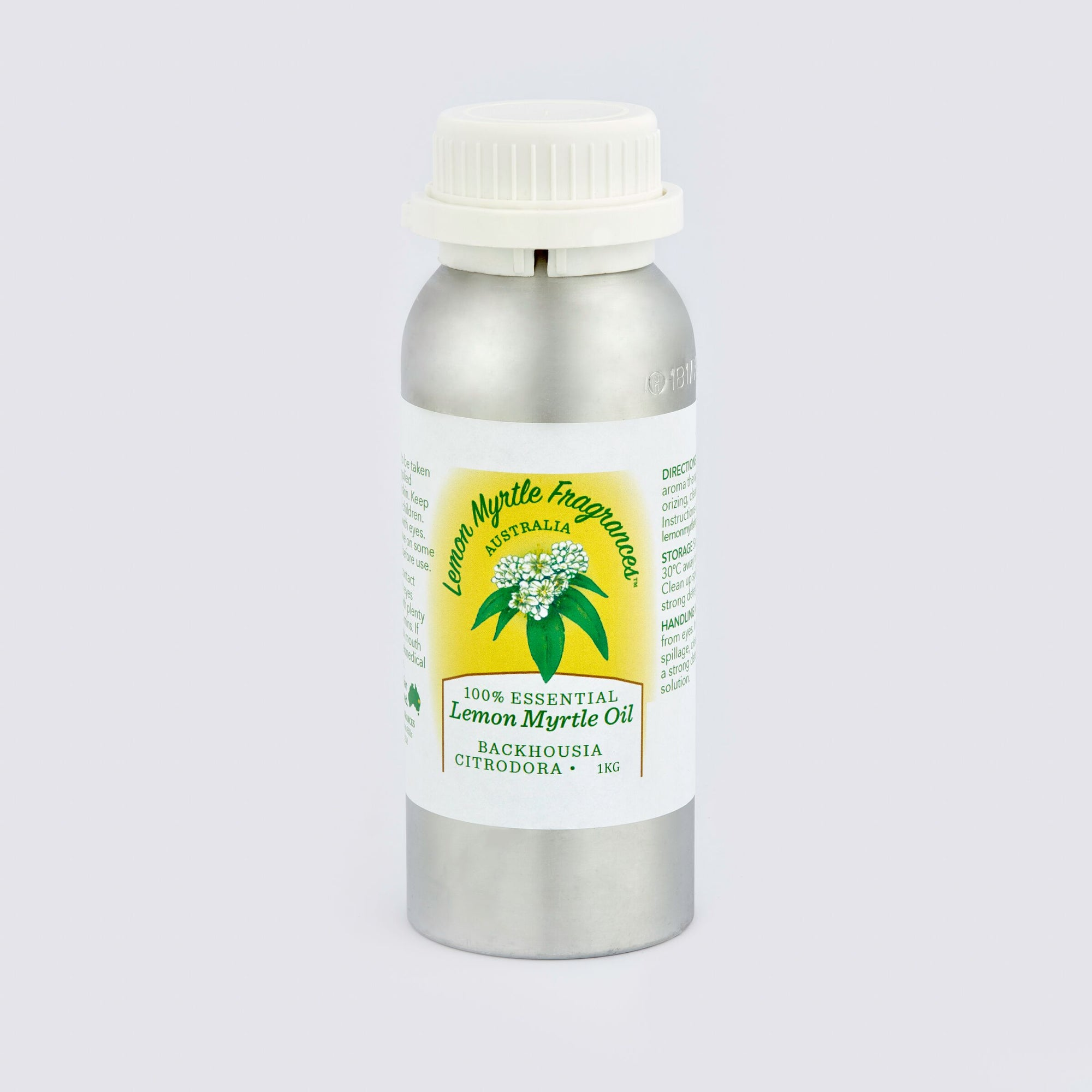 Natural Lemon Myrtle 100% Essential Oil - 1kg