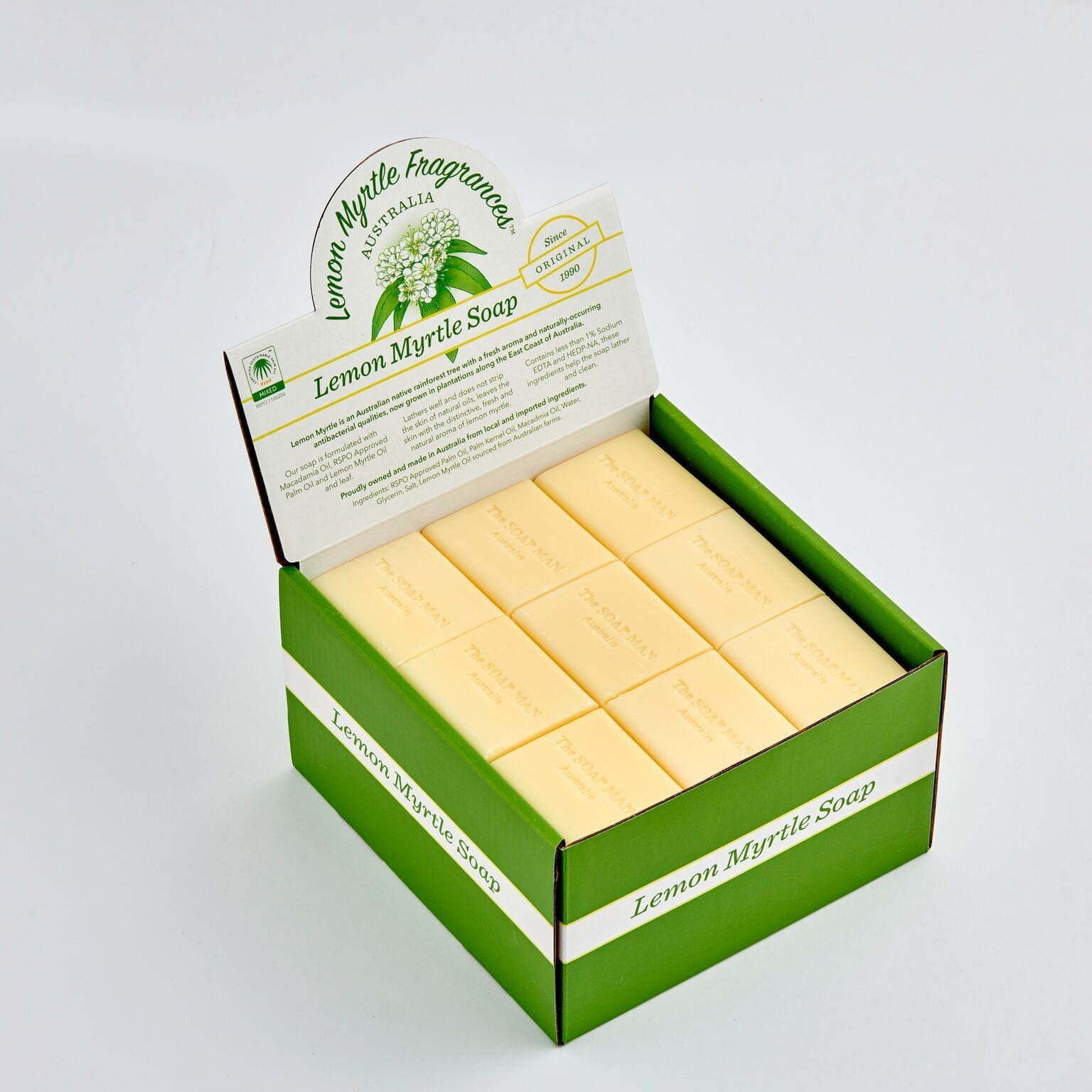 The SoapMan - Lemon Myrtle Guest Soap - 50gm