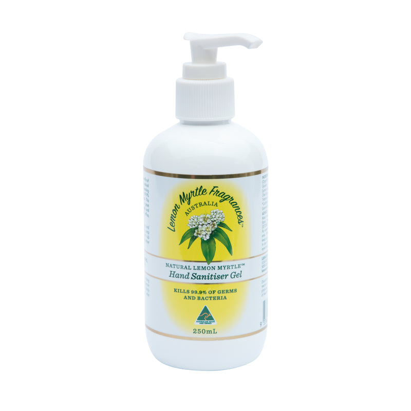 Natural Lemon Myrtle Hand Sanitiser Gel - 250mL