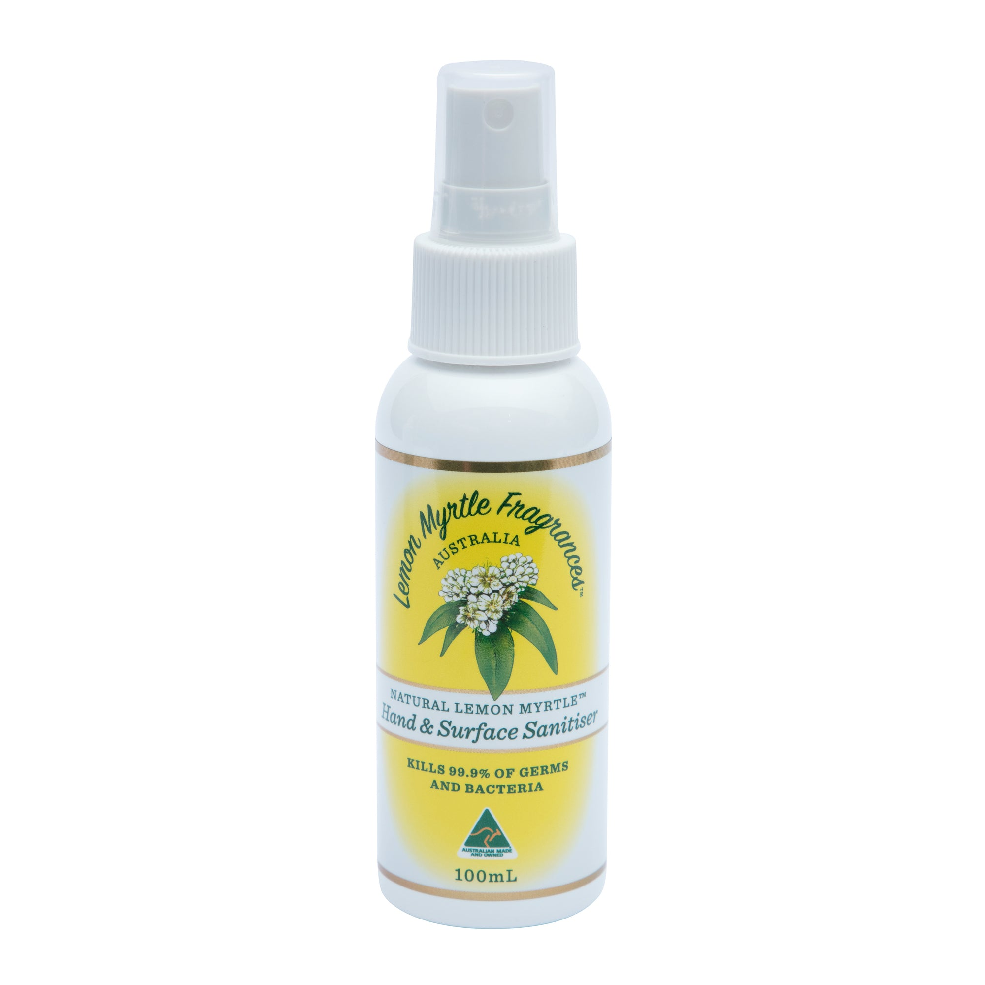Natural Lemon Myrtle Hand & Surface Sanitiser - 100mL