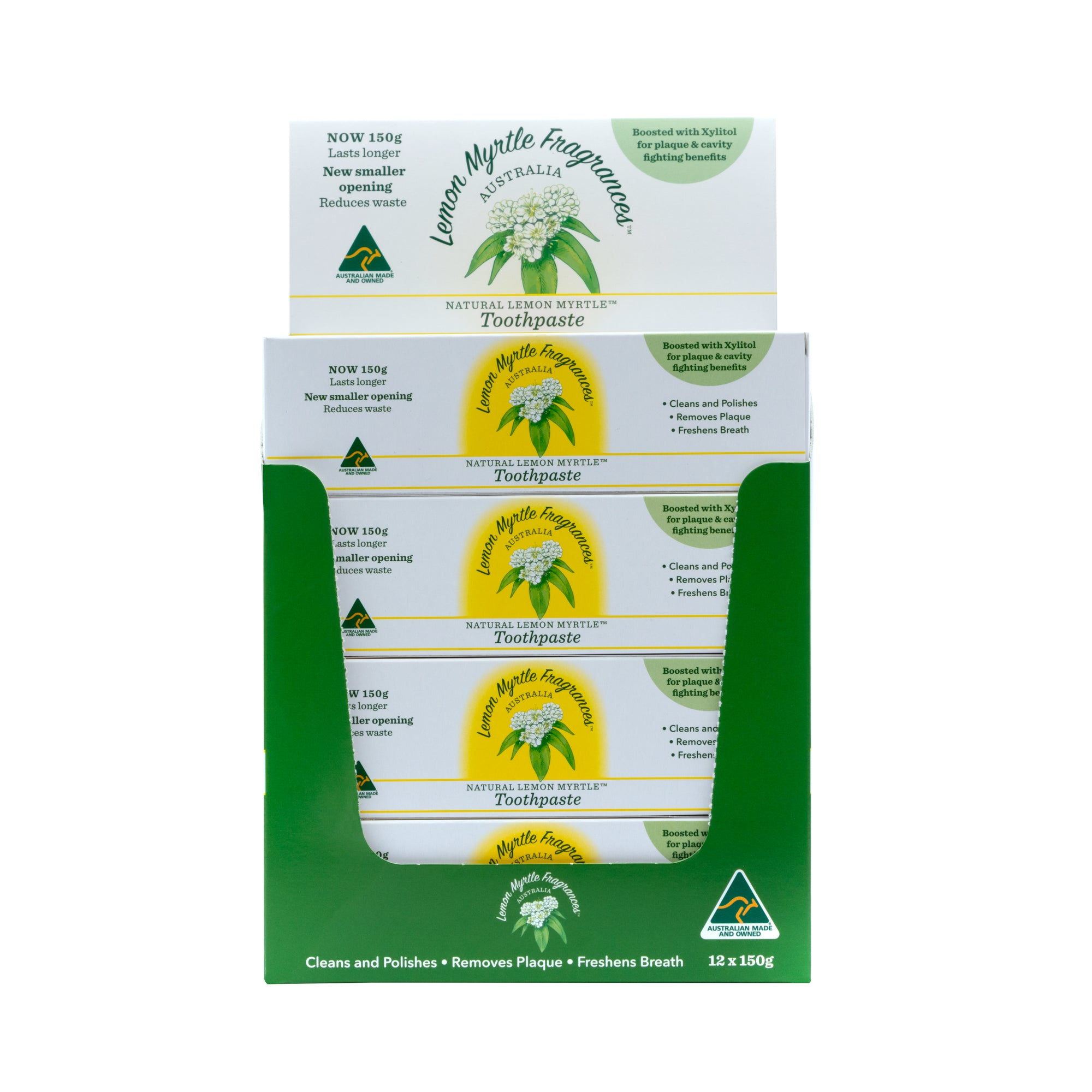 Natural Lemon Myrtle Toothpaste CDU - 12 Tubes
