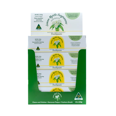 Natural Lemon Myrtle Toothpaste - CDU 12 Tubes