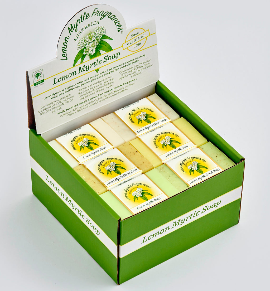 Lemon Myrtle Natural Soap - Display Box 24 Bars