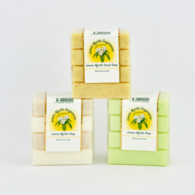 Natural Lemon Myrtle Soap - Bundle of 4