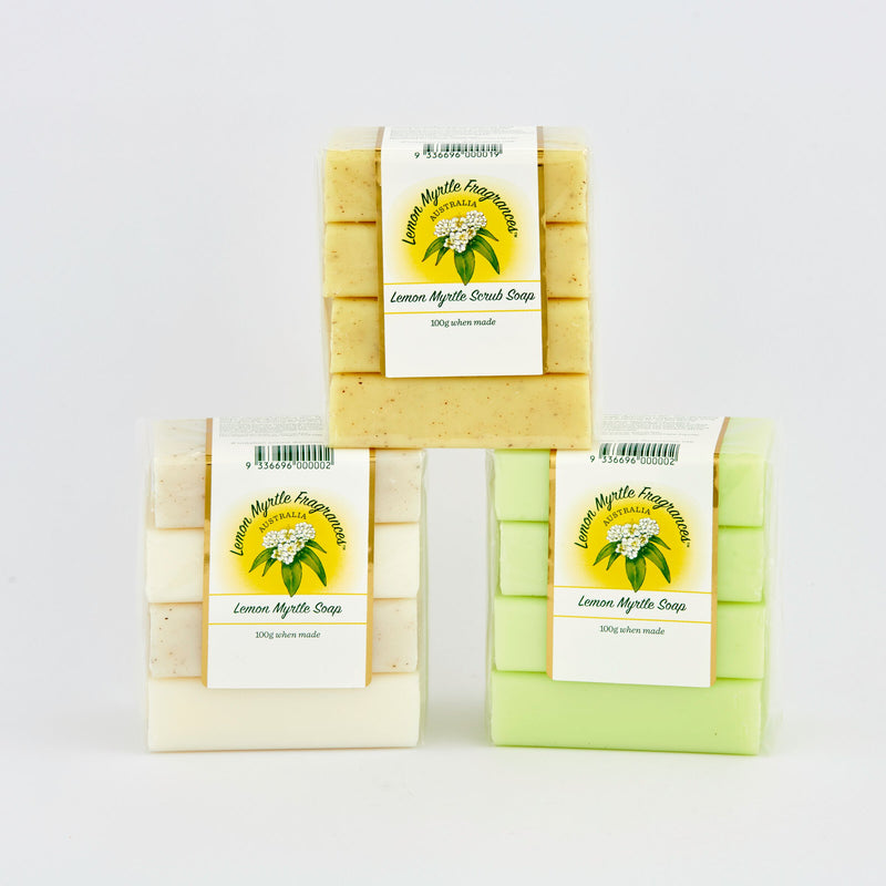 Lemon Myrtle Natural Soap - Bundle of 4